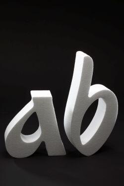 litery ze styroduru 3d
